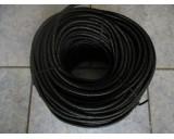 Pružné gumové lano 8mm, černé - 50m návin