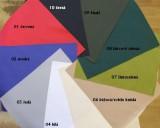 UBEON - Polyesterová technická tkanina s PUR zátěrem 220 g/m² - cena za 1 bm