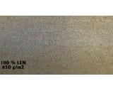 Metráž celtoviny 100% lněná příze - 650g/m² - šířka 130cm - režná - cena za 1 bm