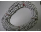 Pružné gumové lano 8mm, smetanová - 50m návin
