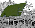 Plachty 6x10m - 250gr/1m2 olivová (s UV stabilizátorem)