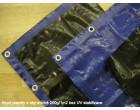 Plachty 8x15m - SUPER 200gr/1m2 modrá (s UV stabilizací)