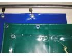 Závěsy termoizolační z průhledné PVC fólie 680g/m², bar. varianty